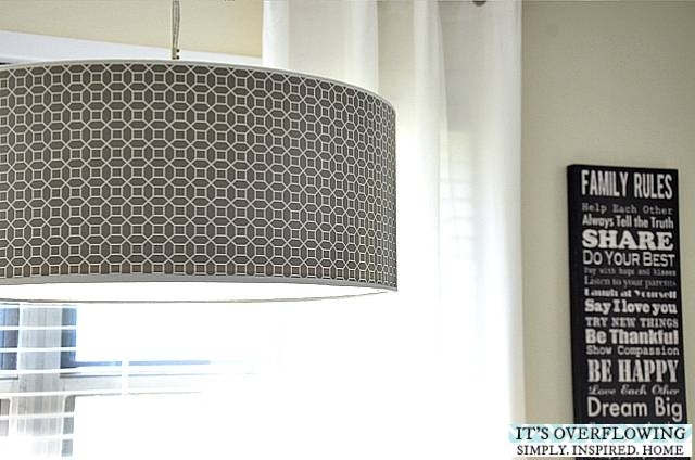 Updating A Lamp Shade – Its Overflowing Throughout Ikea Drum Lights (#15 of 15)
