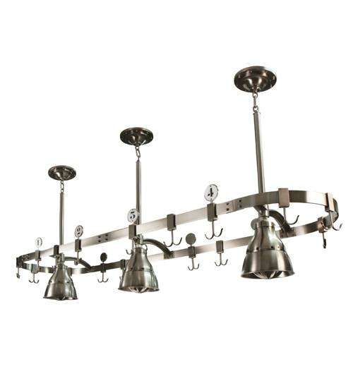 Urban Archaeology | Pot Rack W/ 3 Studio Lights Throughout Pot Rack Pendant Lights (#15 of 15)