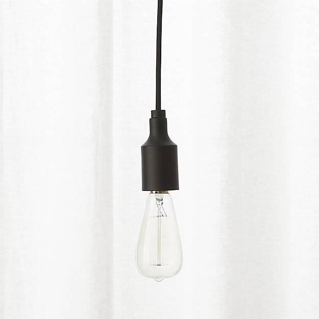 Inspiration about Utility Matte Black Single Pendant Light | Cb2 Within Cb2 Pendant Lights (#11 of 15)