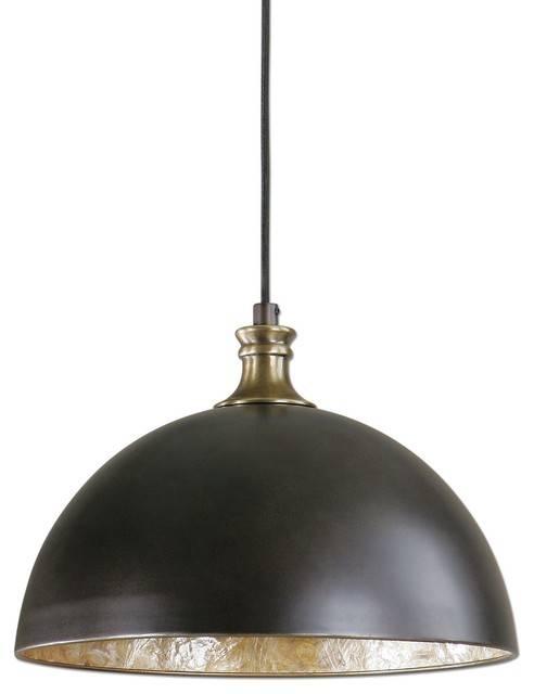 Uttermost Placuna 1 Light Pendant, Bronze – Industrial – Pendant Inside Uttermost Pendant Lights (#14 of 15)