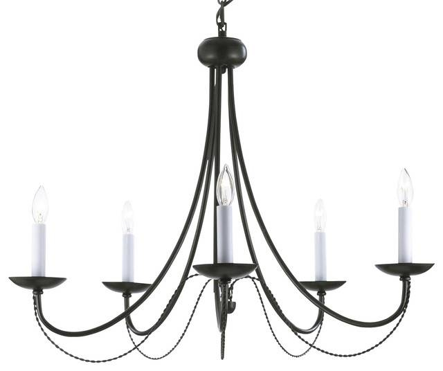 Inspiration about Versailles Wrought Iron 5 Light Chandelier, Black – Transitional In Wrought Iron Lights Australia (#11 of 15)