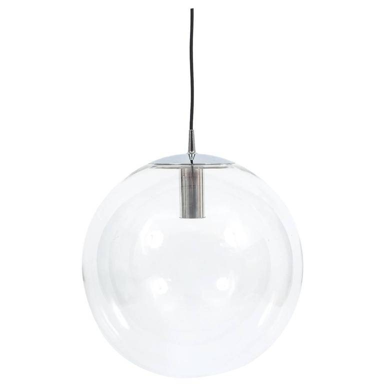 Inspiration about Very Large Limburg Clear Glass Ball Pendant Light At 1Stdibs Pertaining To Large Glass Ball Pendant Lights (#6 of 15)