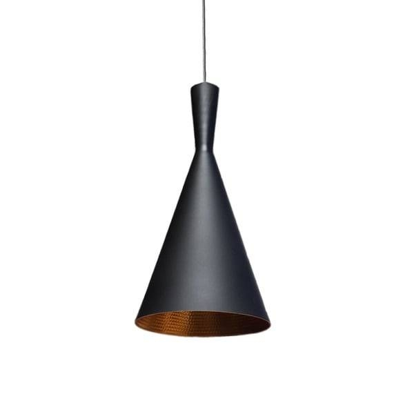 Vino Tall 1 Light Black And Gold Beat Pendant – Free Shipping Pertaining To Black And Gold Pendant Lights (#13 of 15)