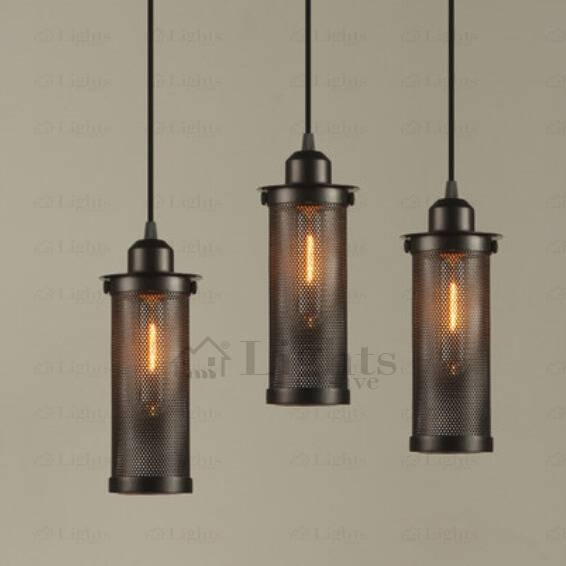 Vintage Black Iron Small Industrial Pendant Lighting With Industrial Pendant Lighting Australia (#14 of 15)