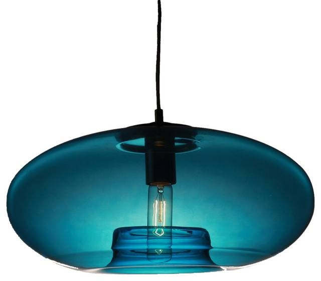 Vintage Glass Pendant Light, Blue Bubble Modern Design For Turquoise Glass Pendant Lights (#14 of 15)