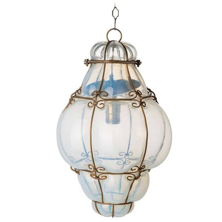 Inspiration about Vintage Hand Blown Seguso Murano Glass Cage Pendant Light At 1Stdibs In Murano Glass Lighting Pendants (#15 of 15)
