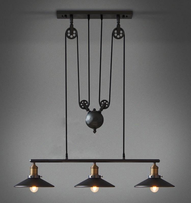 Inspiration about Vintage Industrial Pulley Light Fixture | Design Ideas & Decors Regarding Double Pendant Lights Fixtures (#9 of 15)