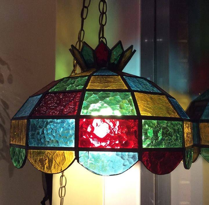 Inspiration about Vintage Stained Glass Chandelier | Roselawnlutheran Throughout Stained Glass Lamps Pendant Lights (#6 of 15)