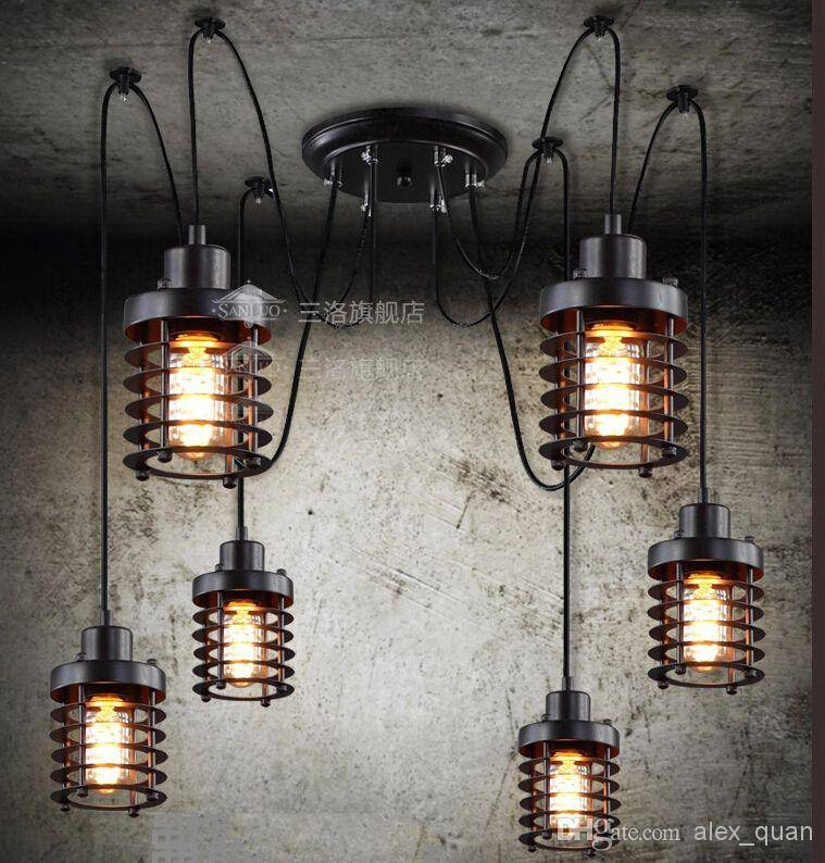 Inspiration about Vintage Wrought Iron Pendant Lamp Restaurant Pendant Lights Edison With Regard To Restaurant Pendant Lighting Fixtures (#6 of 15)