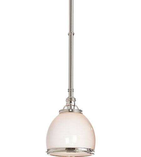Inspiration about Visual Comfort Chc5132Pn Wg E. F. Chapman Sloane 1 Light 10 Inch Inside Polished Nickel Pendant Lights (#13 of 15)