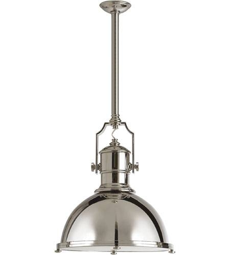 Inspiration about Visual Comfort Chc5136pn Pn E. F. Chapman Country Industrial 1 Throughout Polished Nickel Pendant Lights Fixtures (#4 of 15)