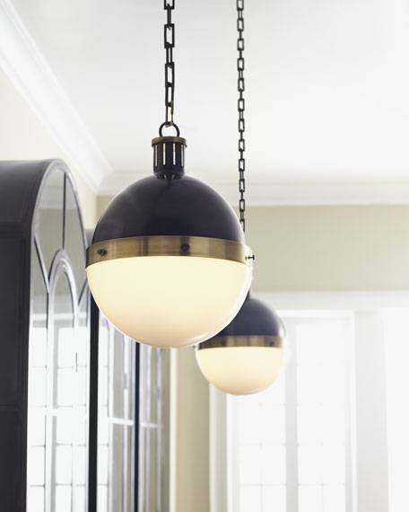 Visual Comfort Hicks Bronze With Antiqued Brass Pendant Light Pertaining To Large Hicks Pendants (#15 of 15)