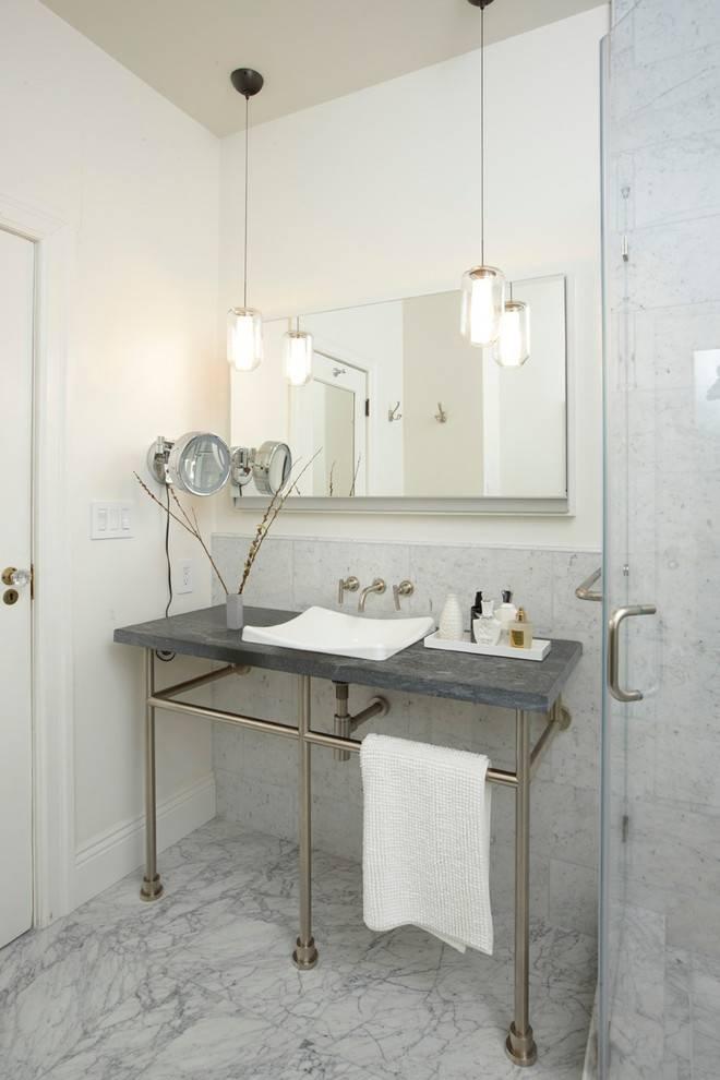 Wall Lights: Marvelous Hanging Bathroom Light Fixtures 2017 Ideas For Bathroom Mini Pendant Lights (#14 of 15)