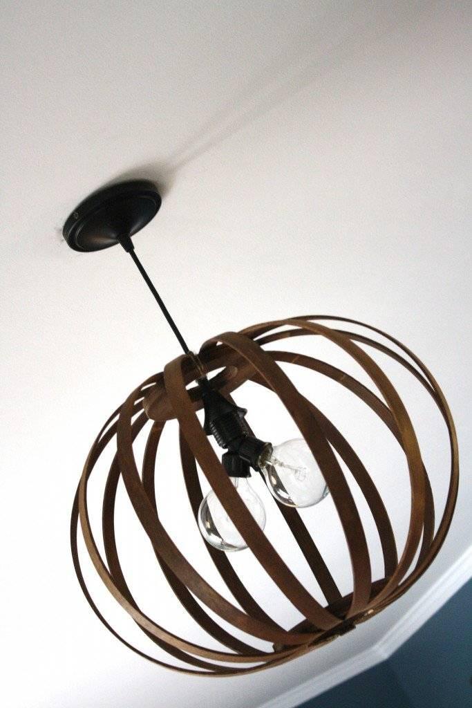 West Elm Knock Off ~ Diy Bentwood Pendant Tutorial   Designer Intended For Bentwood Pendant Lights (#13 of 15)
