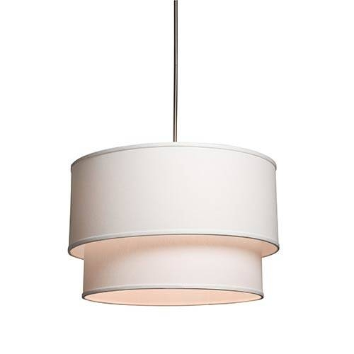 White Drum Pendant Lighting | Bellacor Pertaining To Drum Pendant Lighting (#14 of 15)