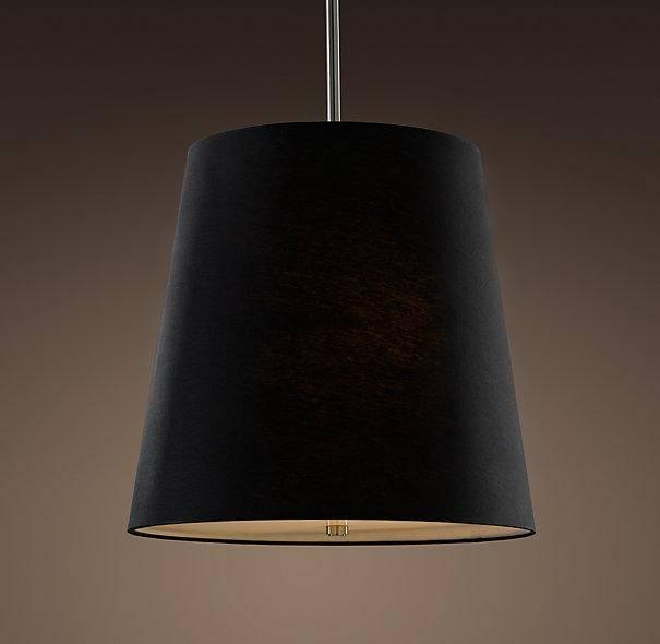 White Linen Pendant Lamp In Barrel Pendant Lights (#15 of 15)