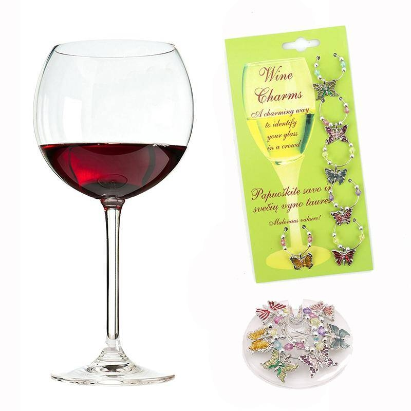 Wholesale  Wine Glass Pendants Decoration Christmas Party New Year Regarding Wine Glass Pendants (#13 of 15)