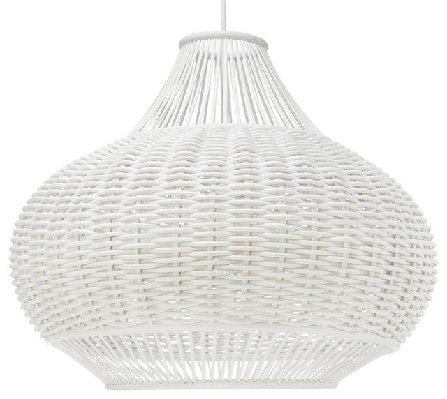 Wicker Pear Shaped Pendant Lamp – Beach Style – Pendant Lighting Throughout Beach Style Pendant Lights (View 2 of 15)