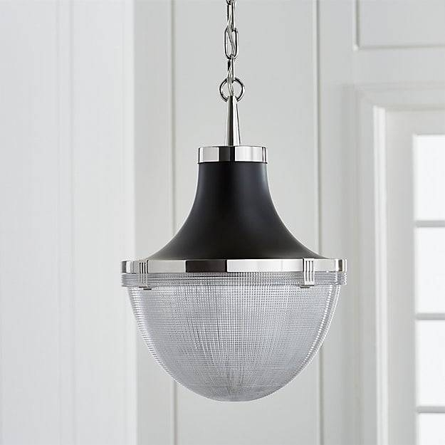 Windsor Polished Nickel Pendant | Crate And Barrel Regarding Polished Nickel Pendant Lights (#15 of 15)
