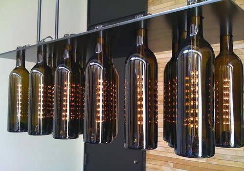 Wine Bottle Ceiling Light – 10 Methods To Renew The Room | Warisan Within Wine Bottle Ceiling Lights (View 4 of 15)