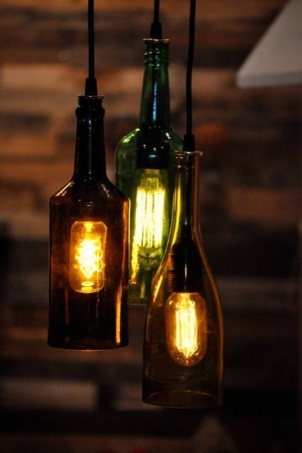 15 collection of wine bottle pendants - Wine bottle pendant light ...