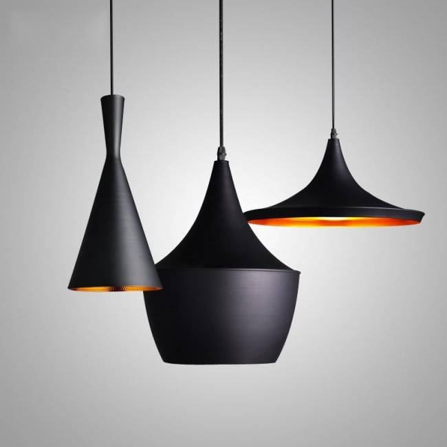 Winsoon Vintage Pendant Light Oil Rubbed Painted Finish Black With For Black And Gold Pendant Lights (#14 of 15)