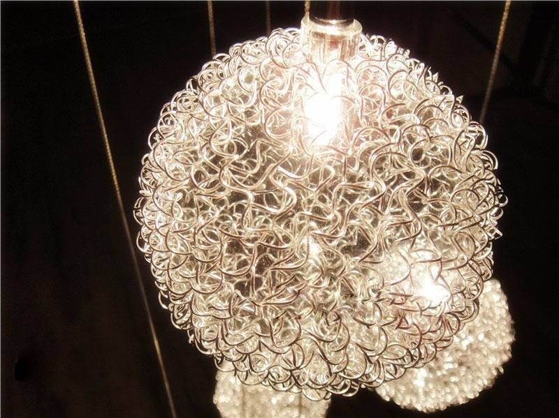 Wire Ball Pendant Light Ceiling Lamp Chandelier Lighting, New Within Wire Ball Lights Pendants (#15 of 15)