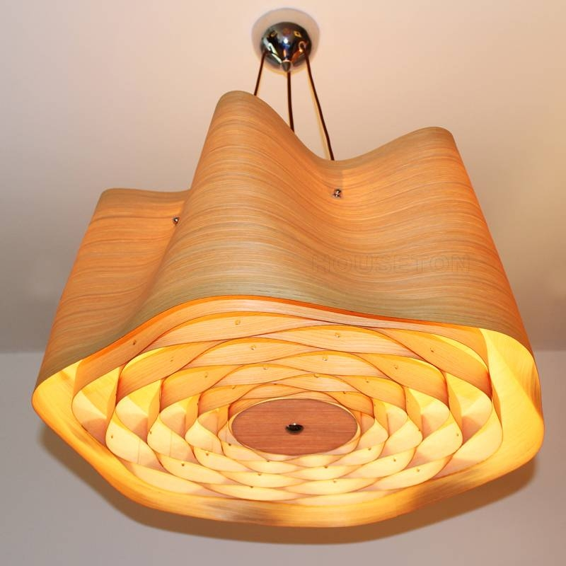 Wood Veneer Pendant Lamp P1009 80 Houseton Electric Co.,ltd (View 7 of 15)