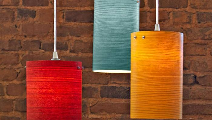 Wood Veneer Pendant Lights In Wood Veneer Pendant Lights (View 9 of 15)