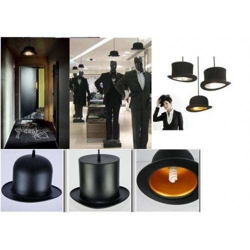 & Wooster Top Hat Pendant Lights Aluminum Gentle Intended For Jeeves And Wooster Pendant Lights (#1 of 15)