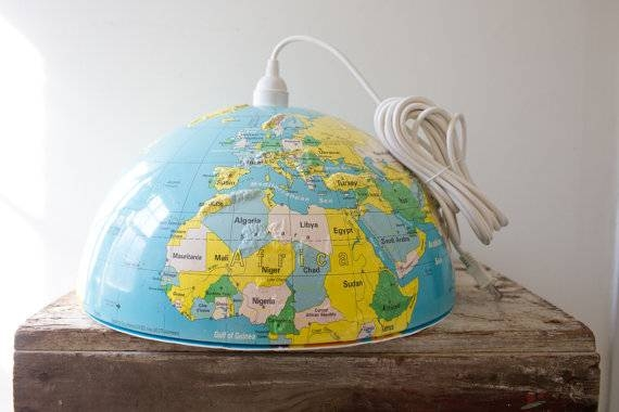 World Globe Light Shade | Roselawnlutheran Intended For Earth Globe Lights Fixtures (View 10 of 15)