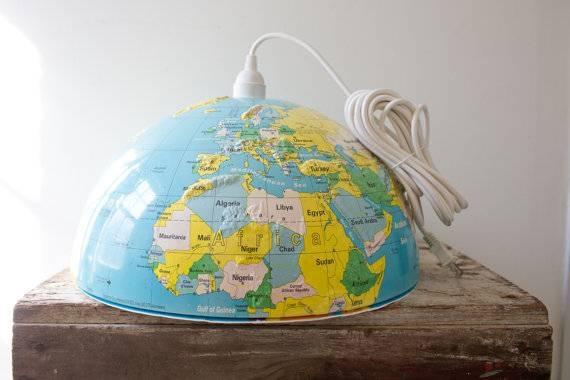 World Globe Light Shade | Roselawnlutheran Pertaining To World Globe Pendant Lights (View 9 of 15)