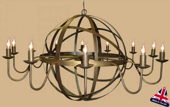 Wrought Iron Ceiling Lights & Wrought Chandeliers Lighting For Wrought Iron Lights Fittings (#15 of 15)