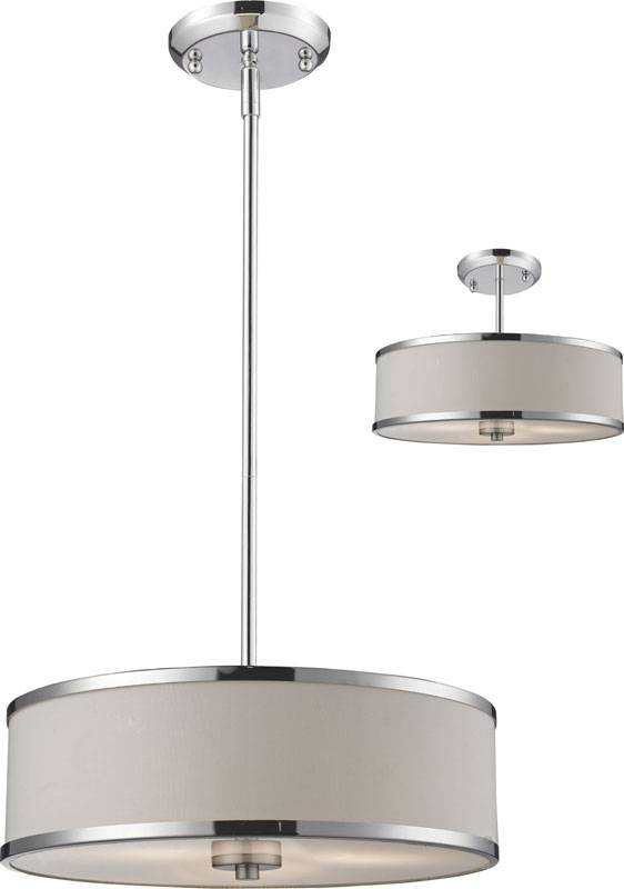 """Inspiration about Z Lite 164 16 Cameo Chrome 15.63"""" Wide Drum Hanging Light Fixture With Hanging Lights Fixtures (#6 of 15)"""