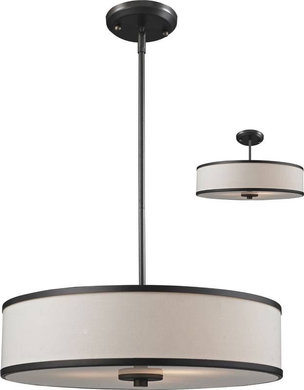 """Inspiration about Z Lite 165 20 Cameo Crème/bronze 19.5"""" Wide Drum Pendant Lamp In Drum Pendant Lights (#11 of 15)"""