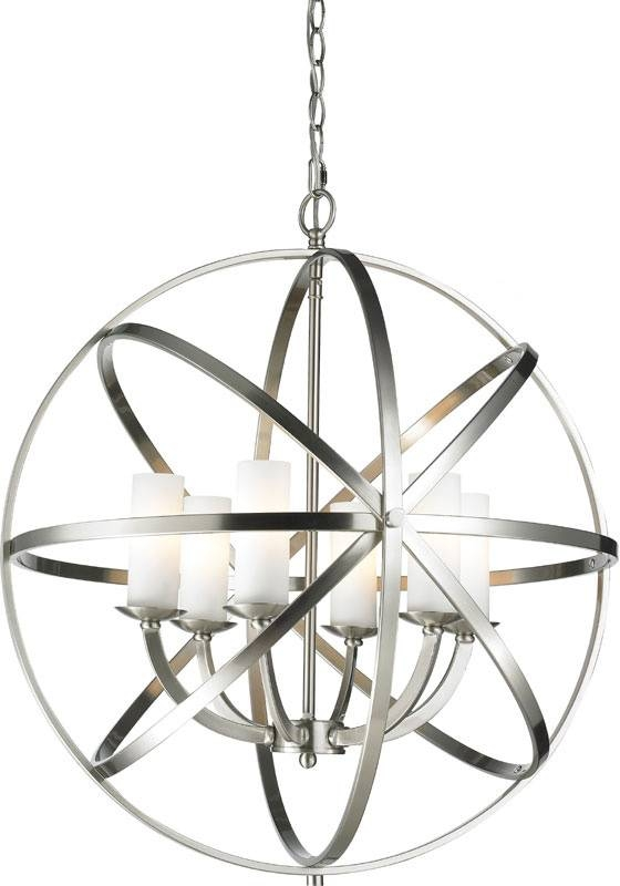 Inspiration about Z Lite 6017 6L Bn Aranya Brushed Nickel Pendant Light Fixture Intended For Satin Nickel Pendant Light Fixtures (#7 of 15)