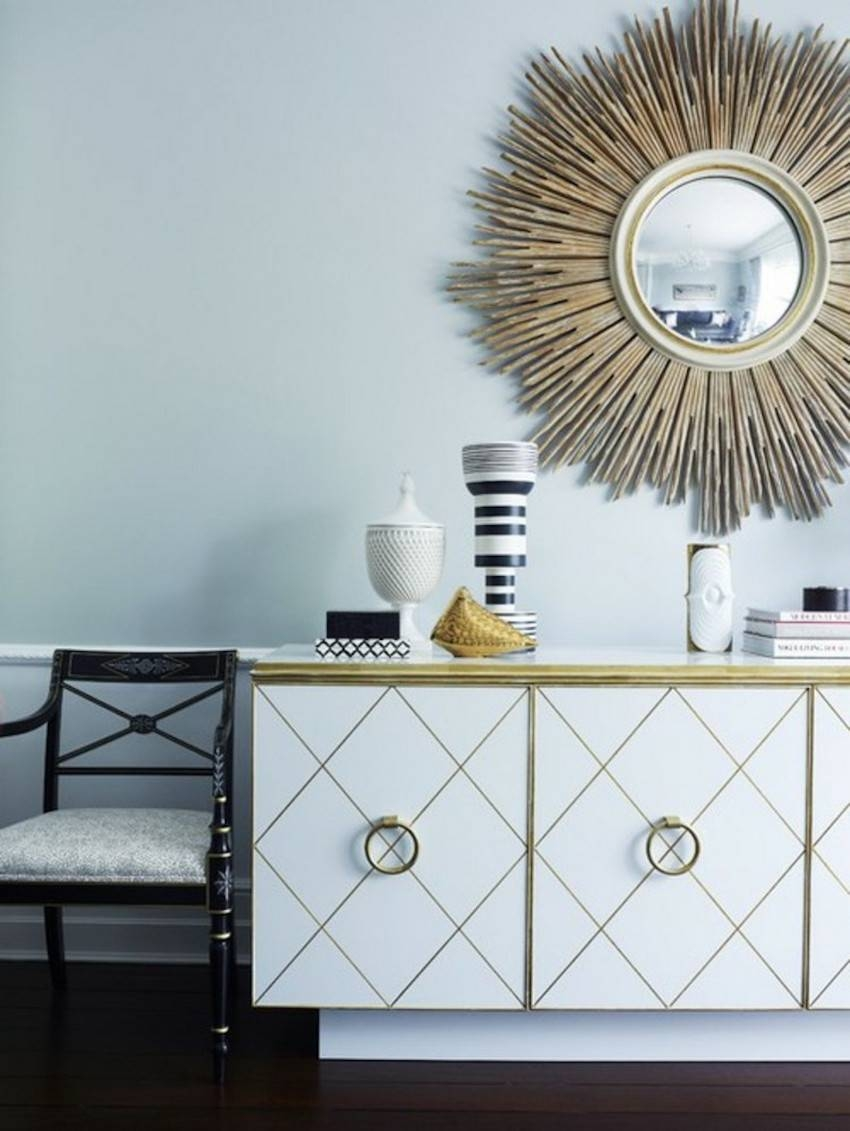 10 Perfect Ways To Combine Sideboards With Wall Mirrors Regarding Sideboards With Mirror (View 1 of 15)