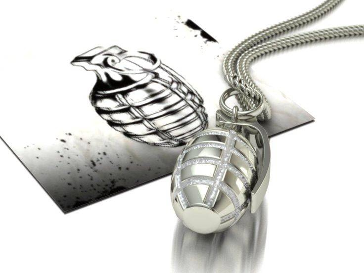 Inspiration about 115 Best Charms & Necklace Images On Pinterest | Grenades, Charm Regarding Most Recent Grenade Pendants (#9 of 15)