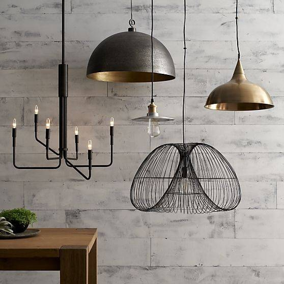 Inspiration about 126 Best Home Lighting Images On Pinterest | Crates, Fabric Shades With Crate And Barrel Pendants (#4 of 15)