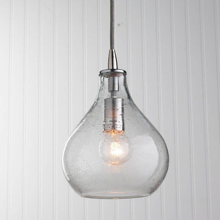 Inspiration about 144 Best Crystal & Clear Glass Images On Pinterest | Clear Glass Pertaining To Best And Newest Glass Pendant Lights Shades (#1 of 15)