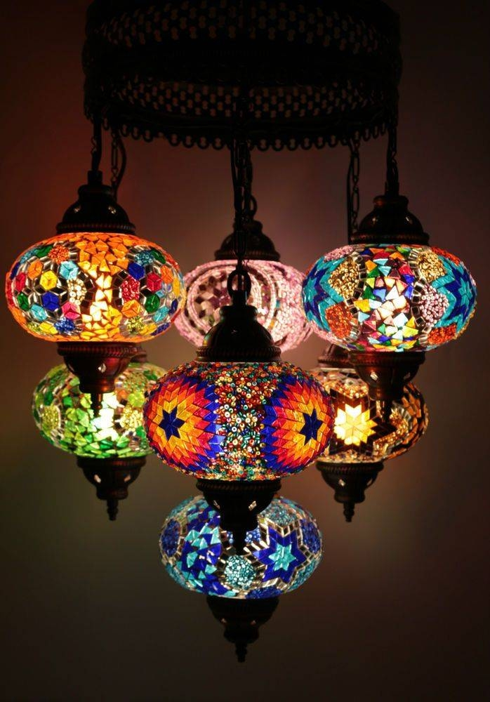 18 Best Lighting Images On Pinterest | Lights, Hanging Lamps And Within Most Current Mosaic Pendant Lights (#1 of 15)
