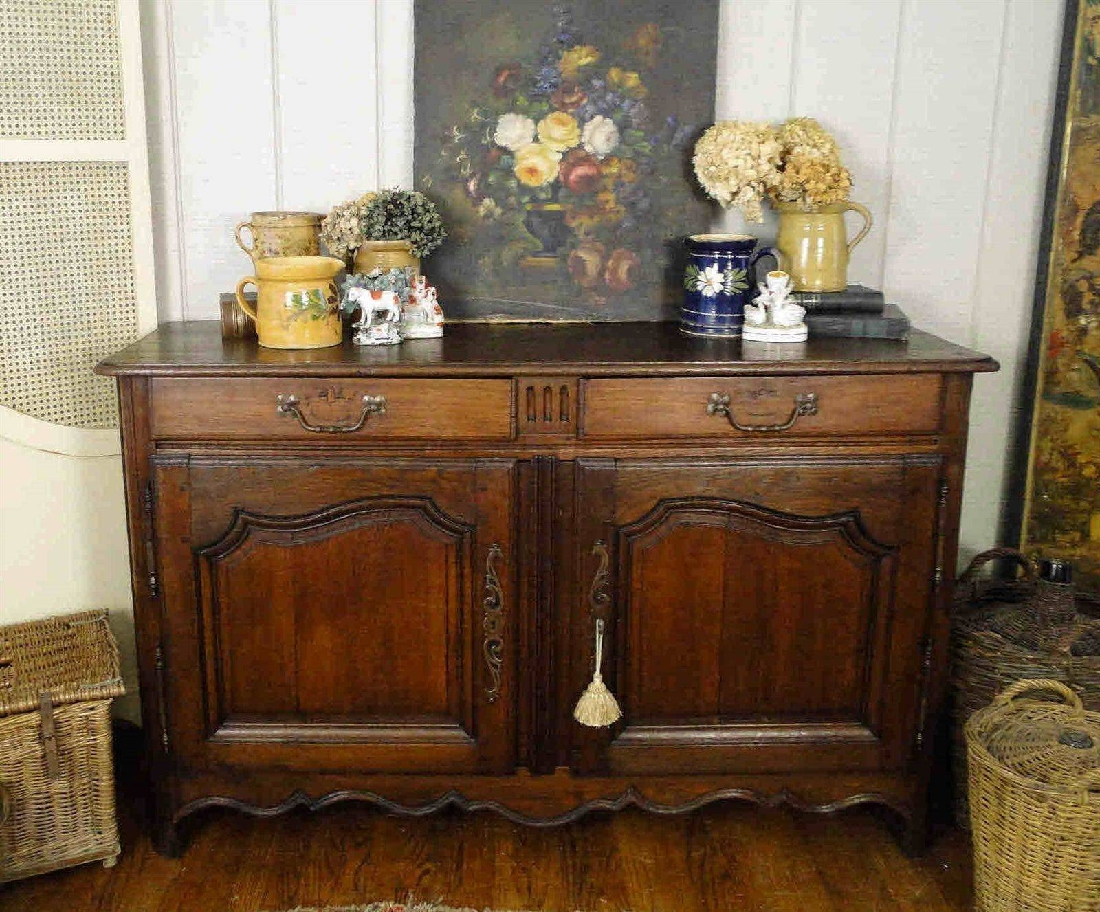 Inspiration about 1800's French Country Antique Sideboard Server And Buffet – Carved Within French Country Sideboards And Buffets (#4 of 15)