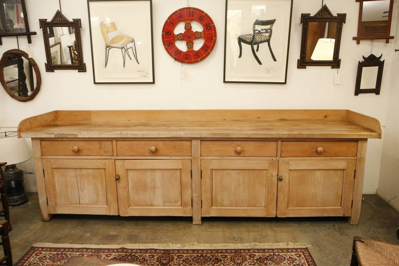 18Th Century Large Pine Sideboard Or Buffet For Sale At 1Stdibs For Pine Sideboards And Buffets (#1 of 15)
