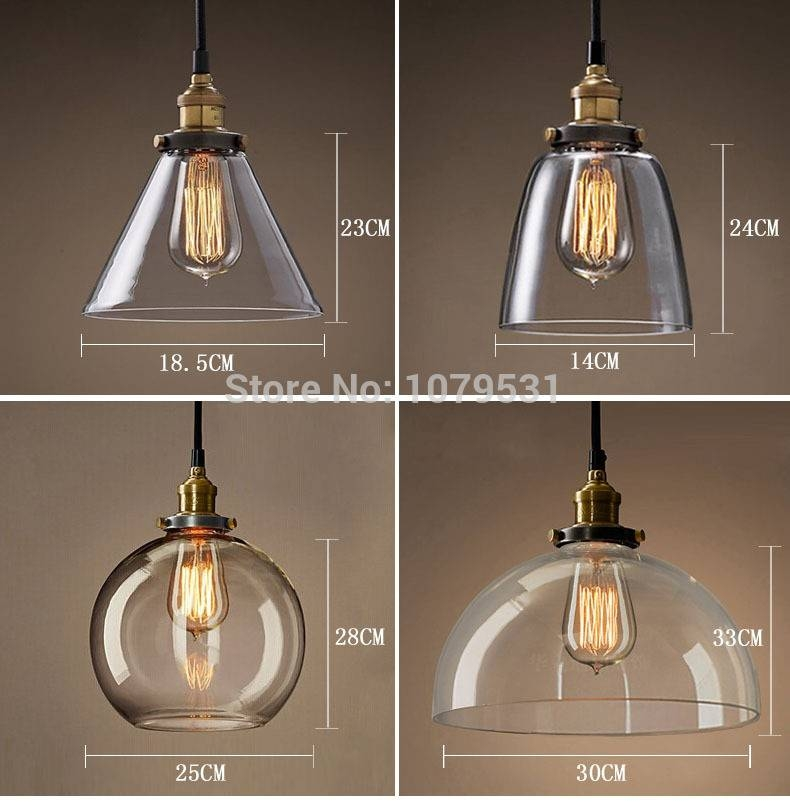 20 Types Vintage Pendant Light Copper/silver Glass Hanging Lamp In Recent Fancy Pendant Lights (#1 of 15)