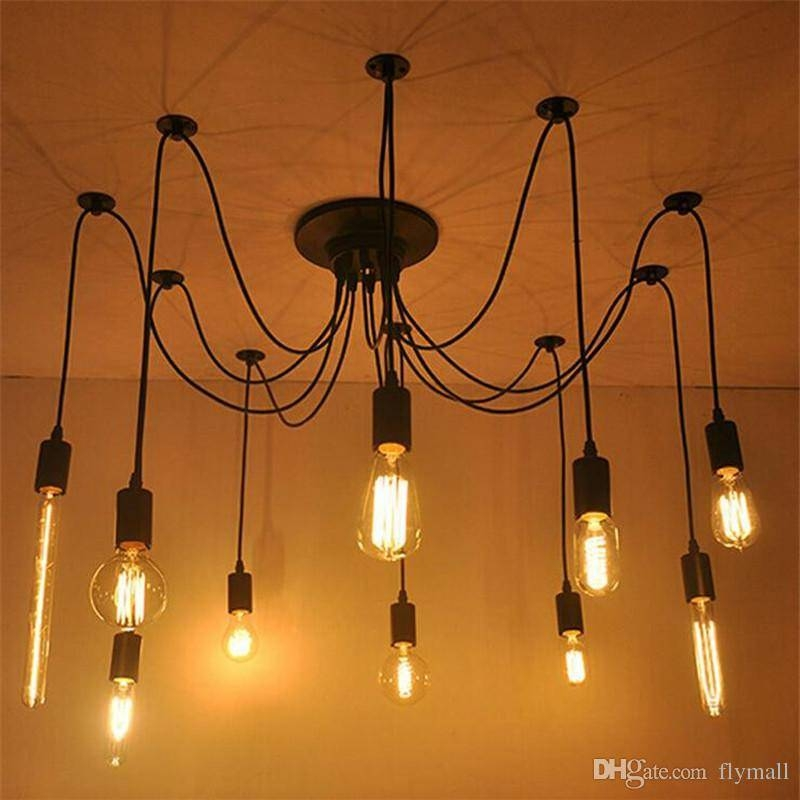 2017 6/8/10/12/16 Vintage Edison Bulbs Spider Pendant Lamp Home With Most Recently Released Spider Pendant Lights (View 5 of 15)