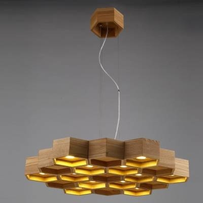 "Inspiration about 29.5""Wide 12 Light Large Honeycomb Shaped Designer Pendant Light Inside Most Recently Released Unusual Pendant Lighting (#11 of 15)"