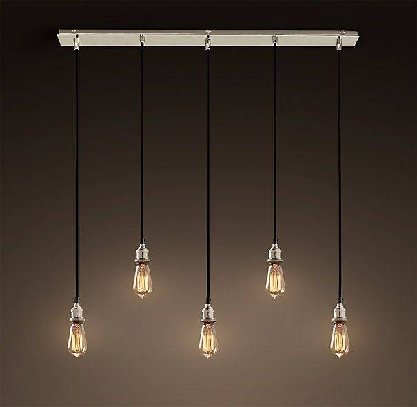 29 Best Lighting Images On Pinterest | Lighting Ideas, Track Inside Bare Bulb Cluster Pendants (View 3 of 15)