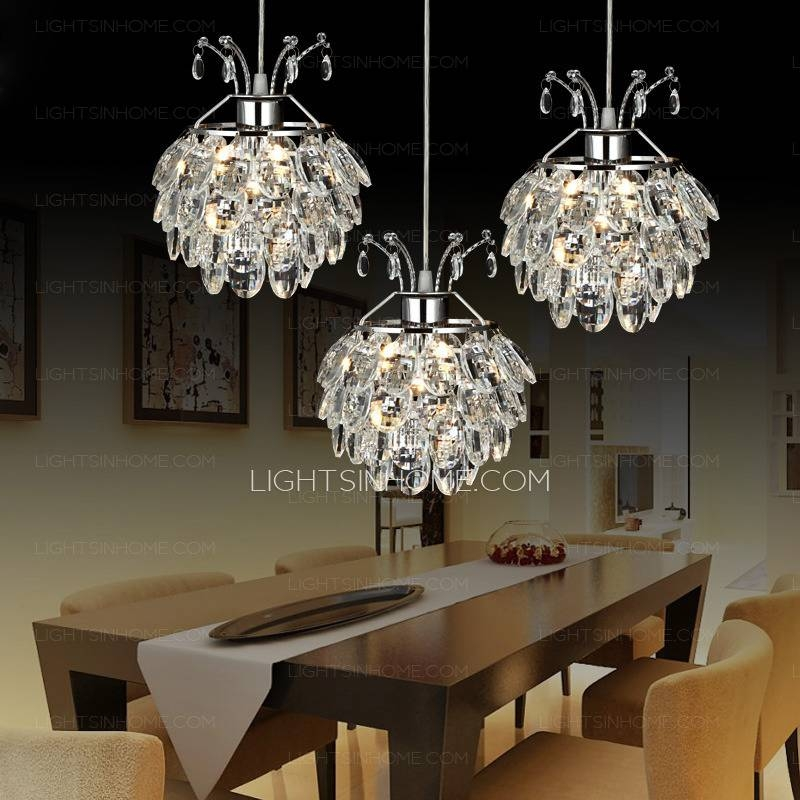 Inspiration about 3 Light Crystal Material Funky Pendant Lights For Living Room In Most Popular Funky Pendant Lights (#2 of 15)