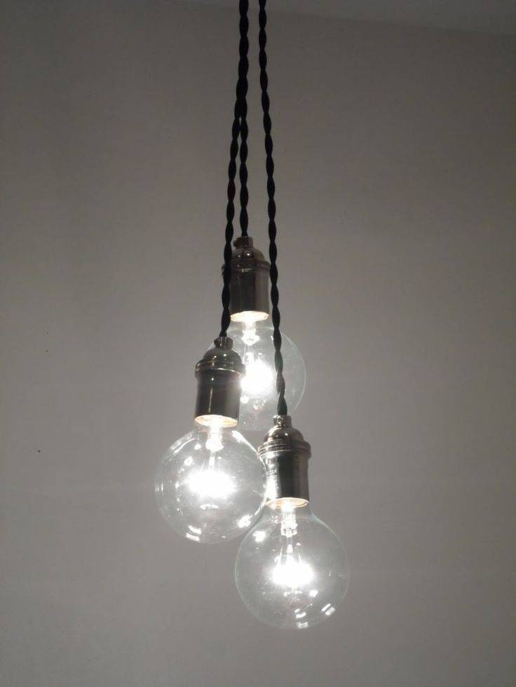 3 Light Pendant Light Fixture | Home Lighting Design For Newest Multi Bulb Pendants (#1 of 15)