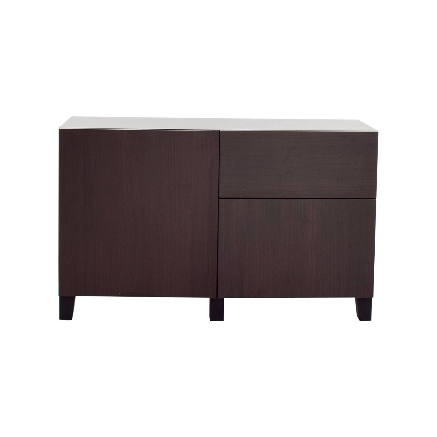 Inspiration about 39% Off – Ikea Ikea Dark Brown Storage Sideboard / Storage In Dark Sideboards Furniture (#7 of 15)